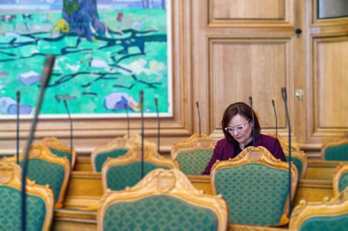 Susanne Eilersen i folketingssalen